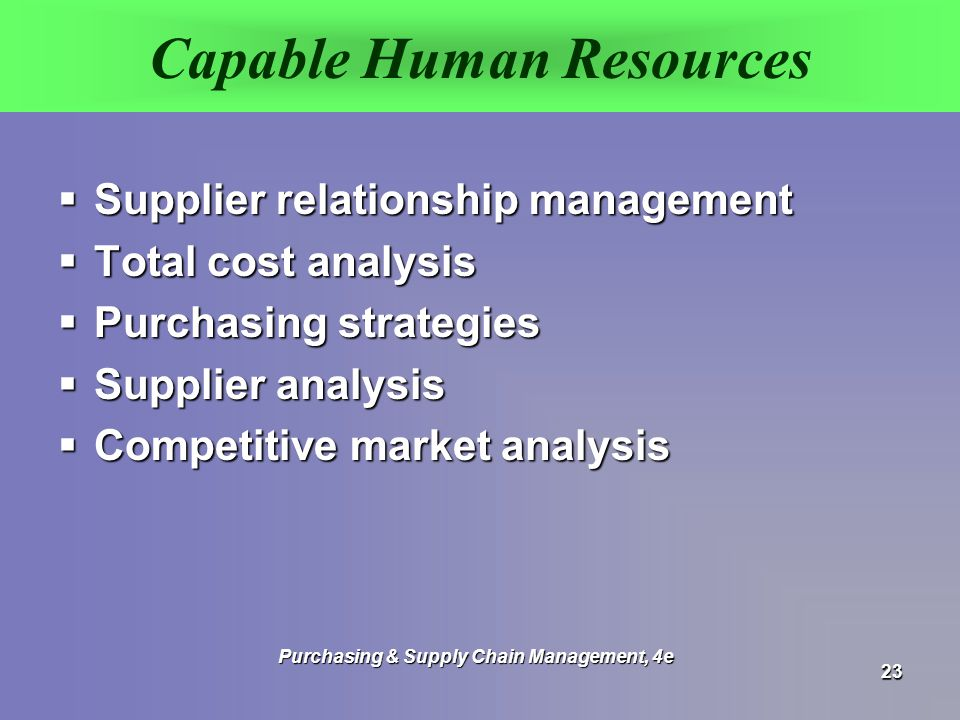 Capable Human Resources
