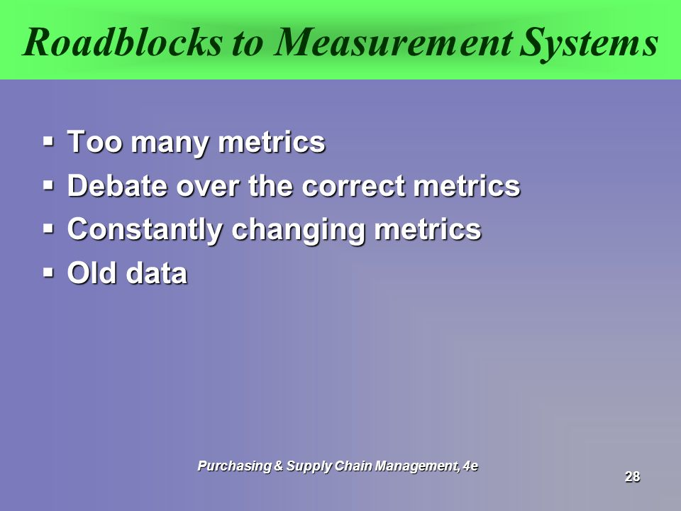 Roadblocks to Measurement Systems