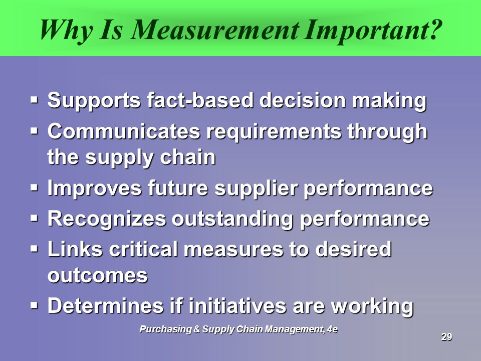 Why Is Measurement Important