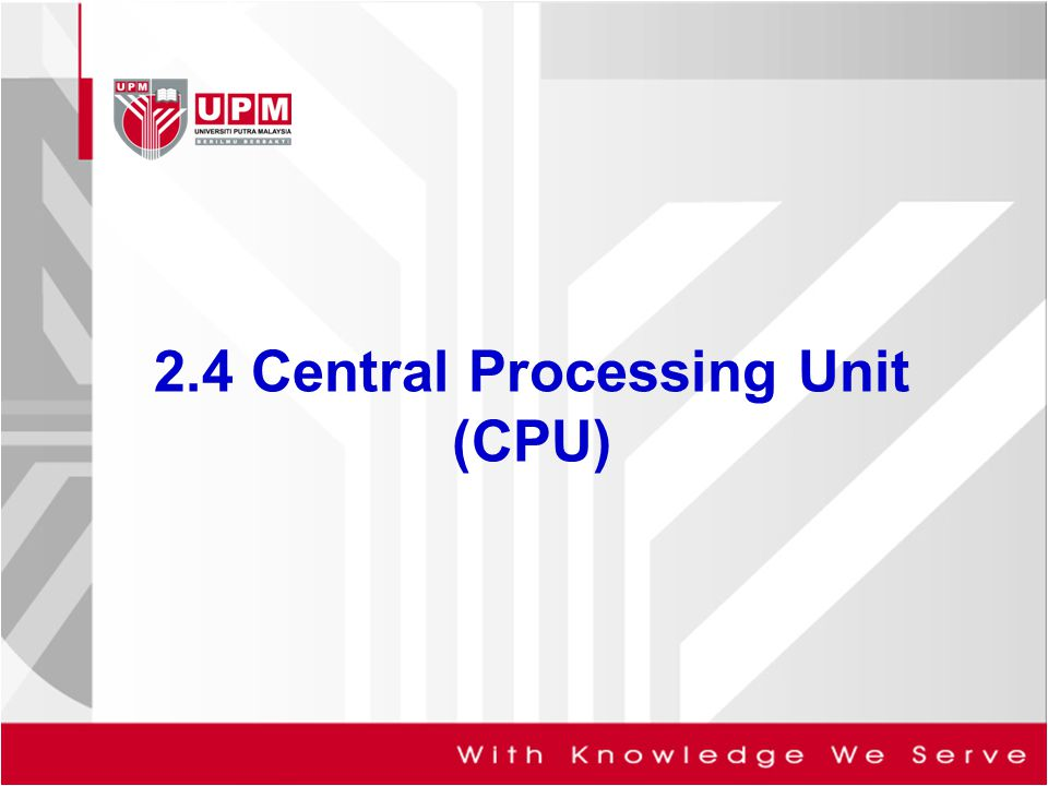 2.4 Central Processing Unit (CPU)