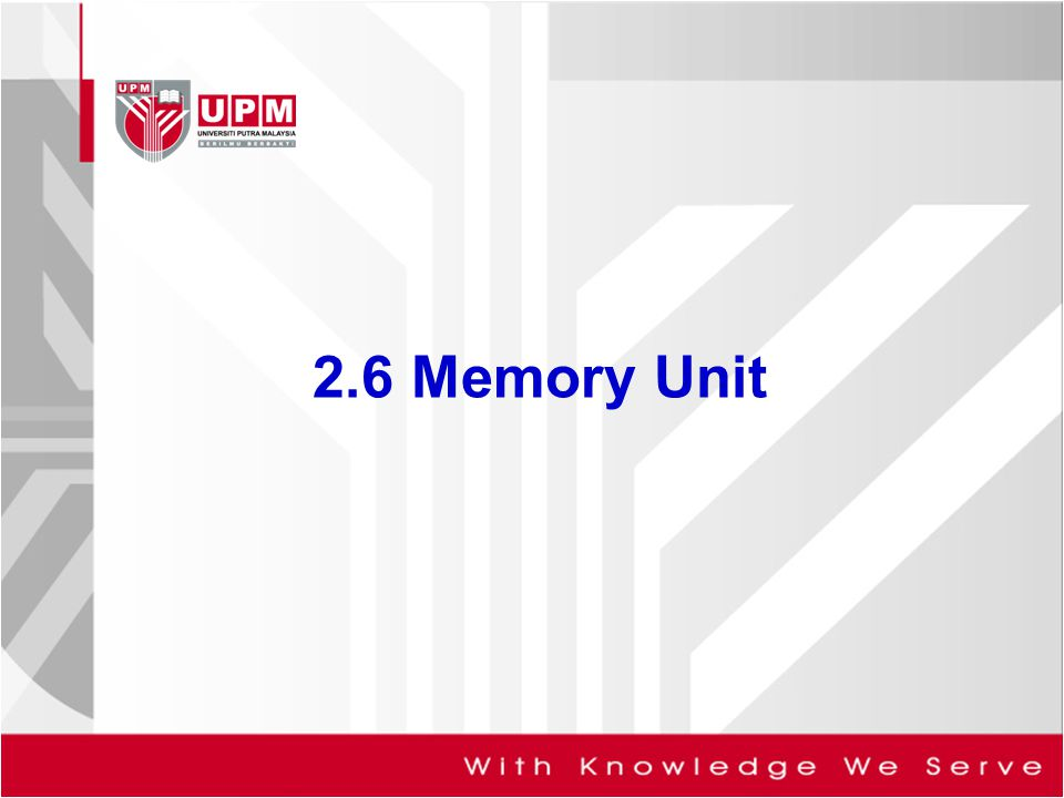 2.6 Memory Unit