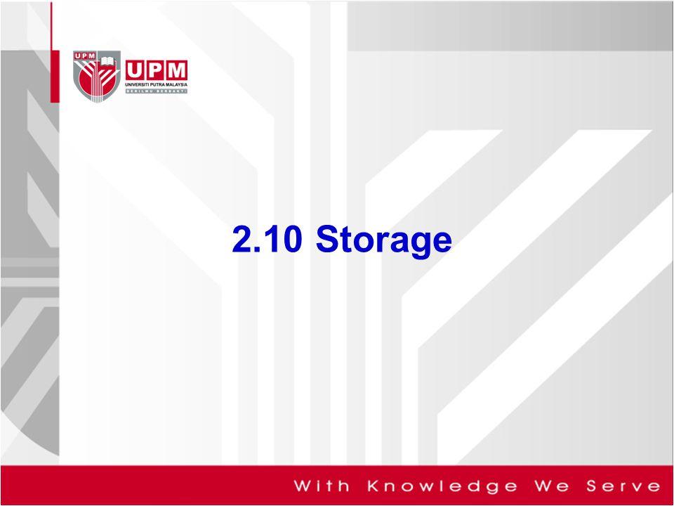 2.10 Storage