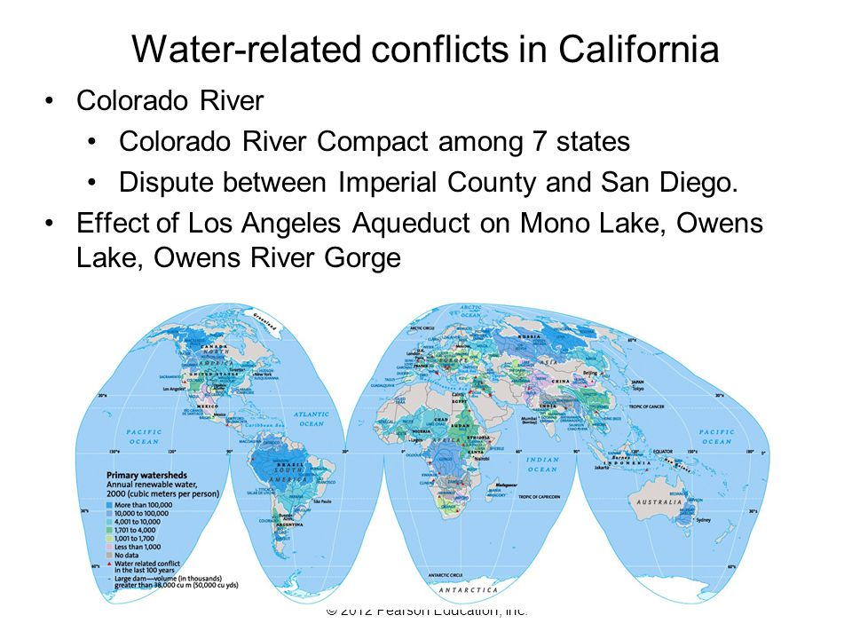 Water-related conflicts in California