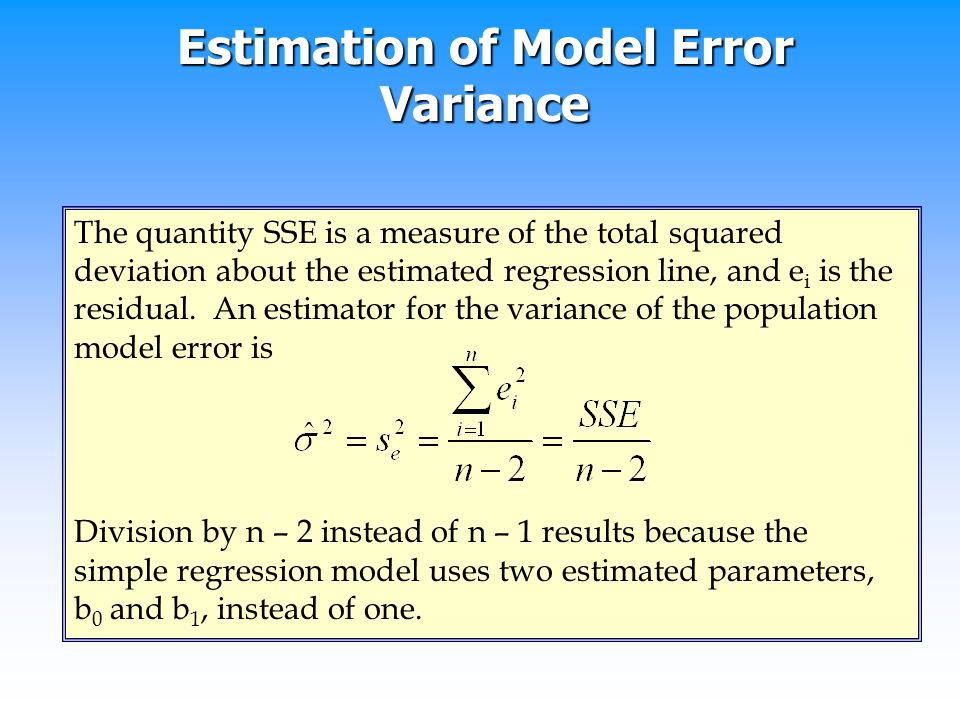 Estimation of Model Error Variance