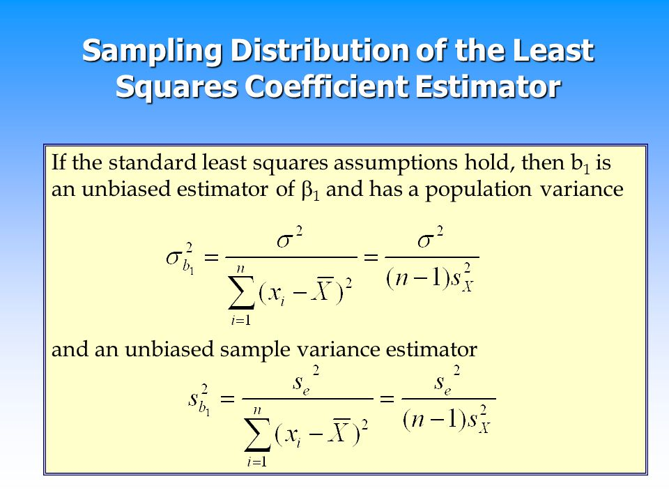 Sampling Distribution of the Least Squares Coefficient Estimator