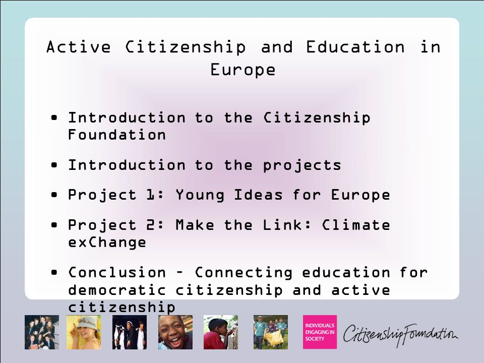 Active Citizenship and Education in Europe