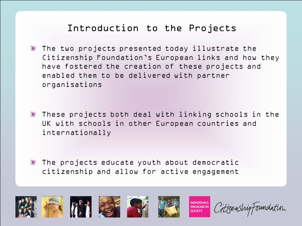 Introduction to the Projects