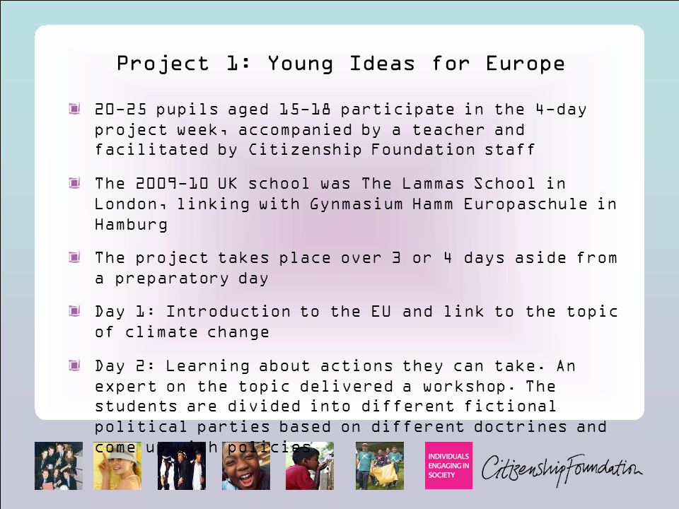 Project 1: Young Ideas for Europe