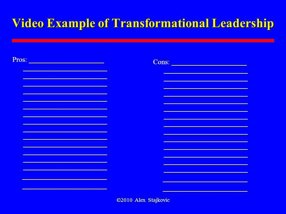 Video Example of Transformational Leadership