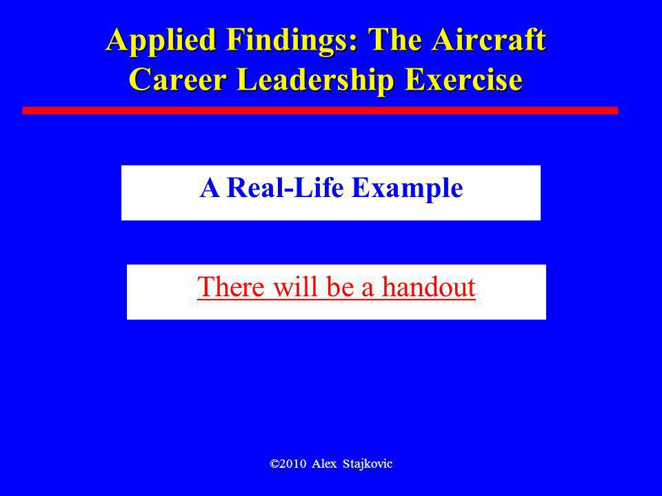 Applied Findings: The Aircraft Career Leadership Exercise
