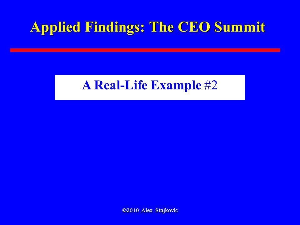 Applied Findings: The CEO Summit