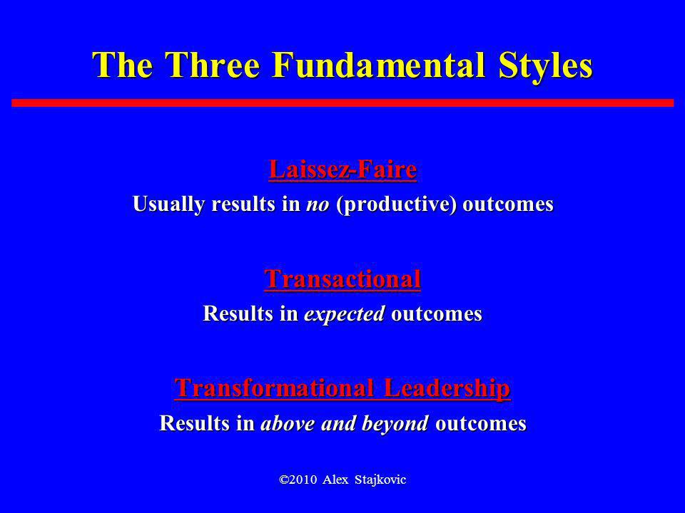 The Three Fundamental Styles