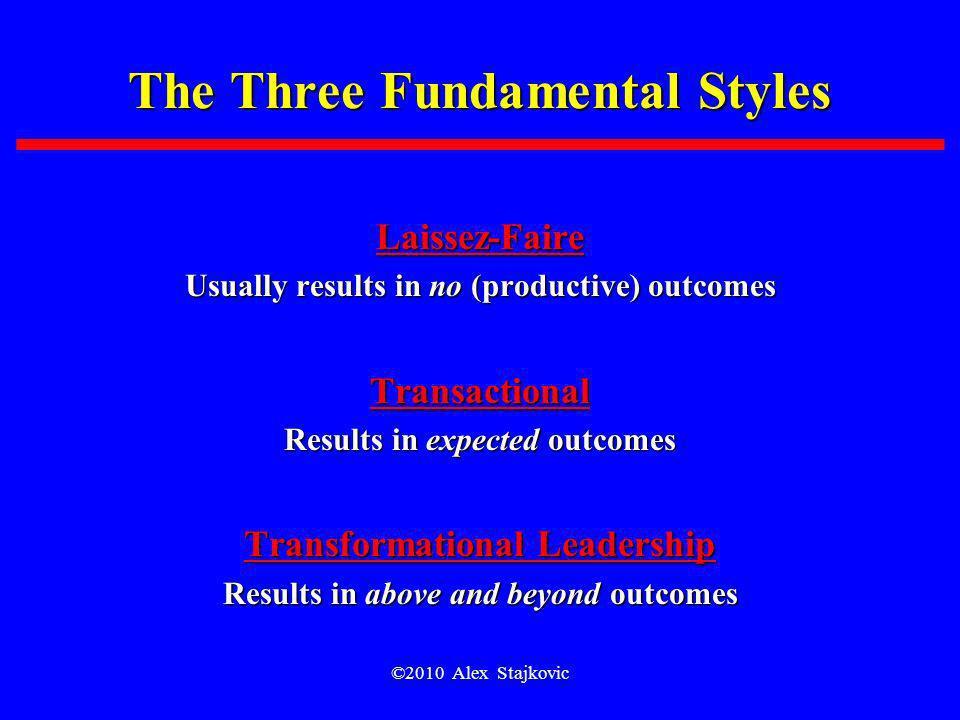 The Three Fundamental Styles