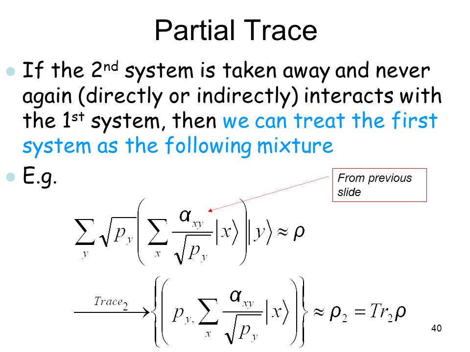 Partial Trace