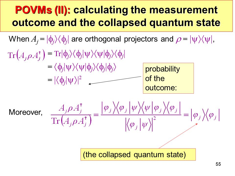 POVMs (II): calculating the measurement outcome and the collapsed quantum state