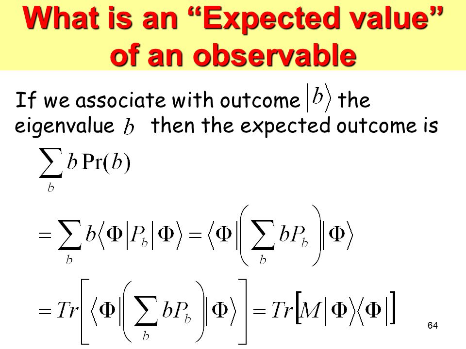 What is an Expected value of an observable