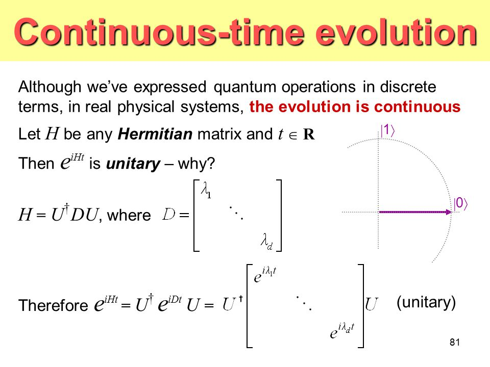Continuous-time evolution
