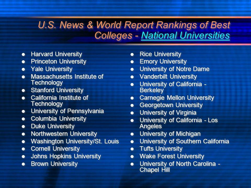 vanderbilt university ranking