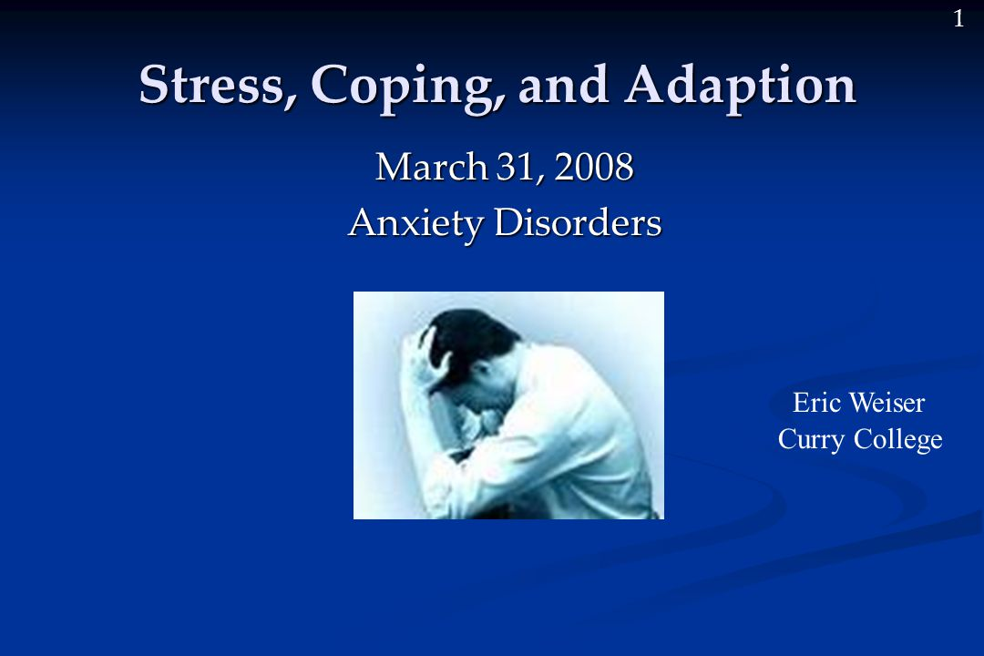 anxiety stress and coping pdf
