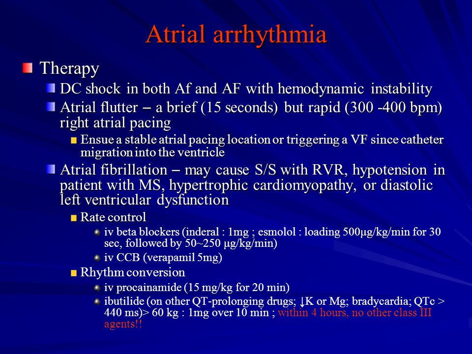 Atrial arrhythmia Therapy