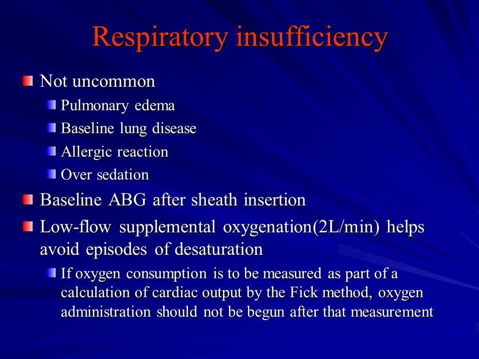Respiratory insufficiency