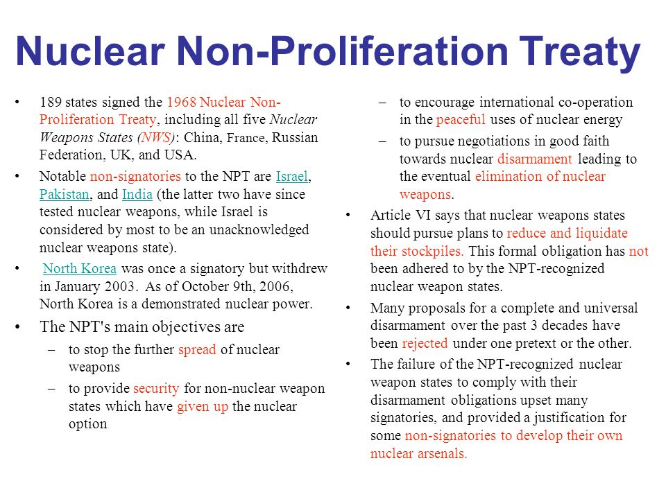 nuclear proliferation final The global nuclear nonproliferation regime  being eliminated from the final document preventing proliferation by state actors: poor record on compliance,.
