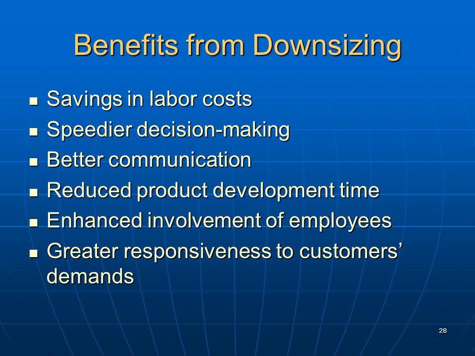 Advantages of Downsizing in a Company