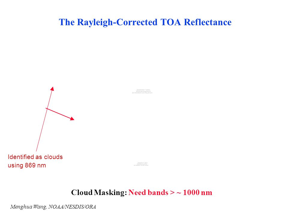 The Rayleigh-Corrected TOA Reflectance