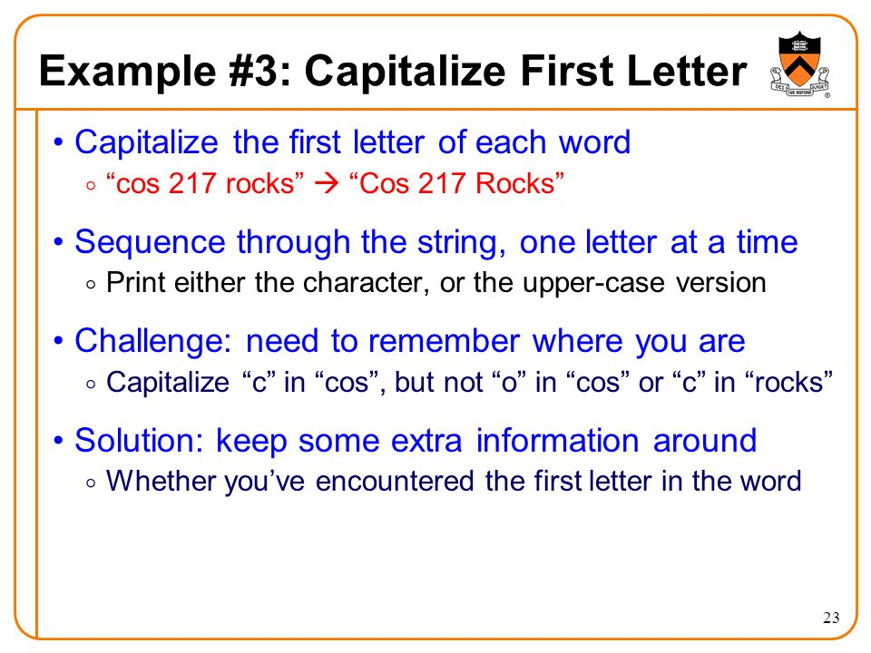 C Capitalize First Letter Of A String
