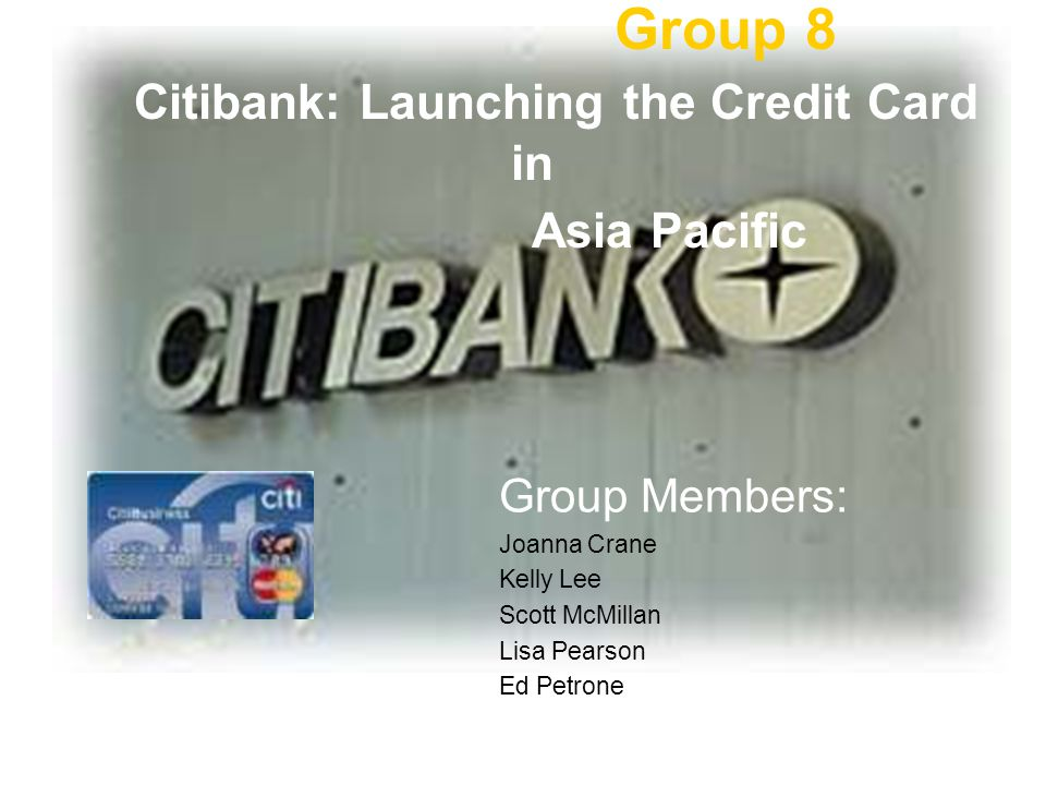 Citibank launching credit card in asia