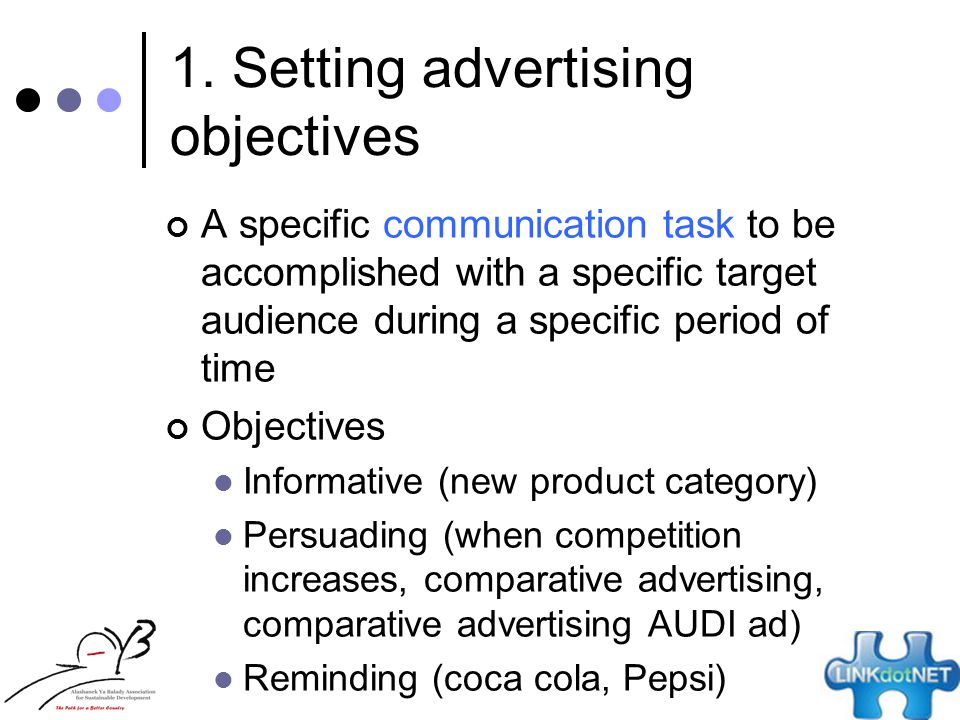 magazine advertising objective Definition of advertising objective: clear and specific aim of an advertising or commercial, such as to compare, to gain attention, to inform, to persuade, or to .
