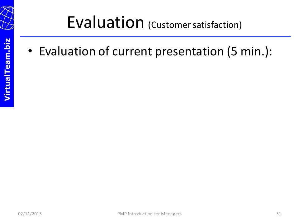 Evaluation (Customer satisfaction)