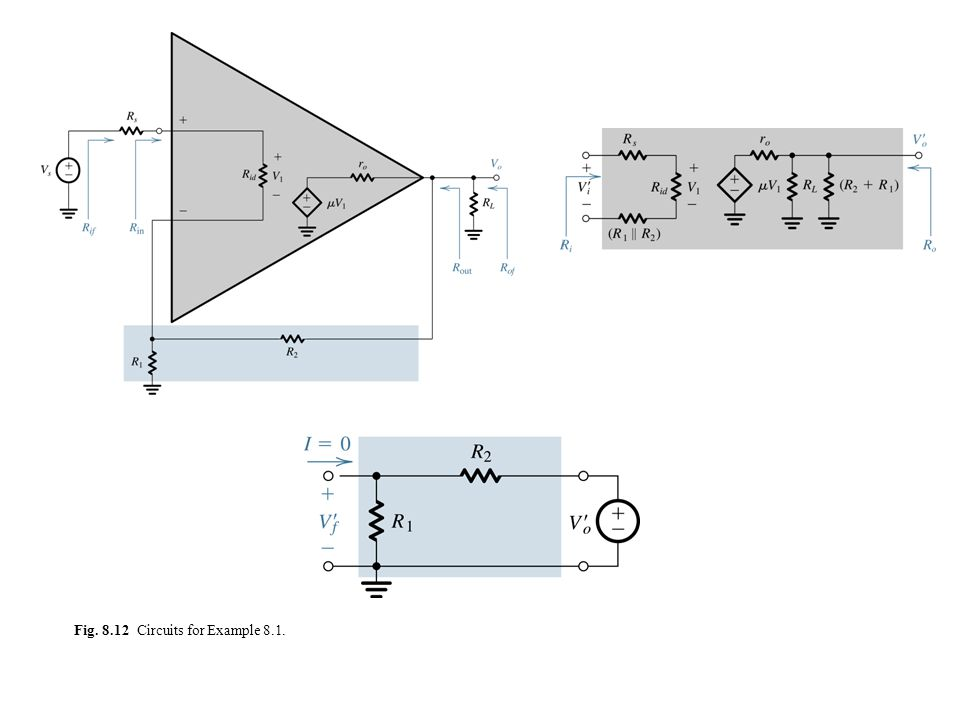 Fig. 8.12 Circuits for Example 8.1.