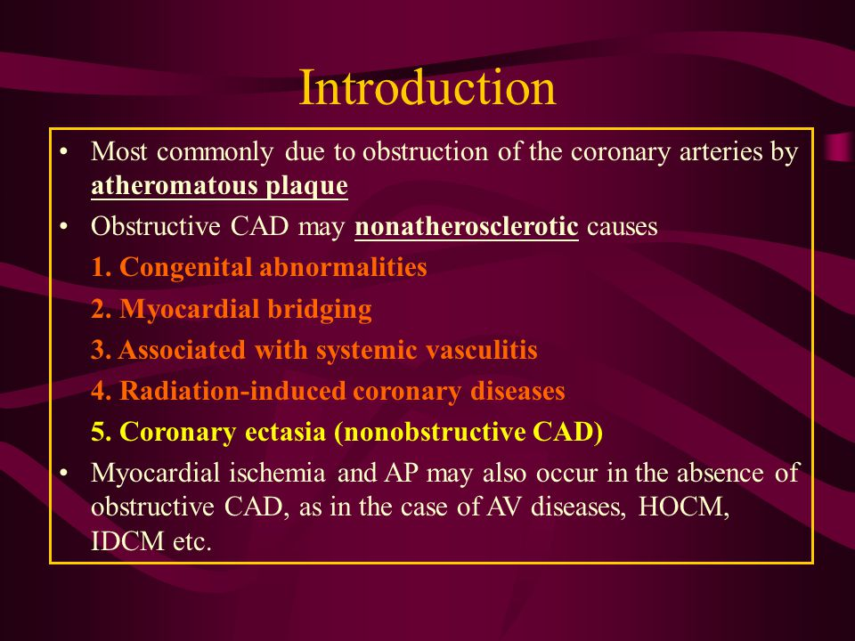 Chronic Coronary Artery Disease - ppt download