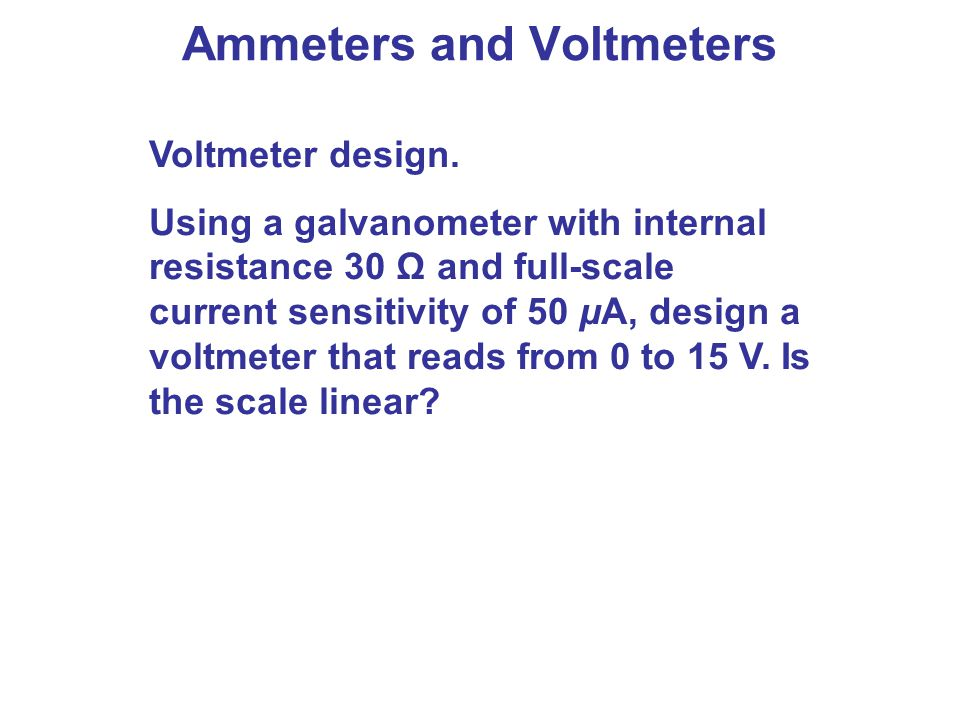 Ammeter Vs Voltmeter : Dc circuits chapter opener these mp players contain