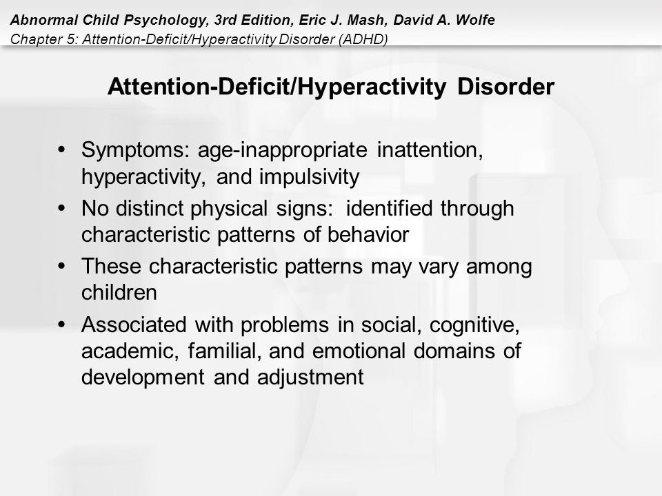 an analysis articles on the topic of attention deficit hyperactivity disorder adhd among children an