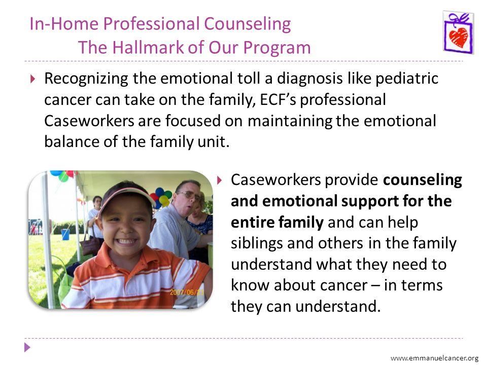 In-Home Professional Counseling The Hallmark of Our Program