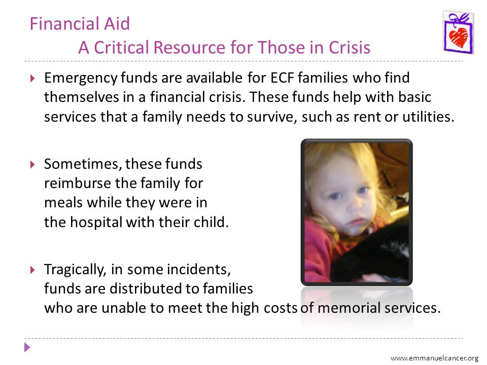 Financial Aid A Critical Resource for Those in Crisis