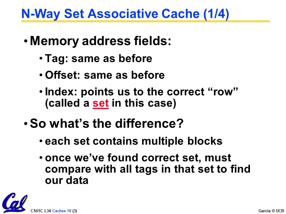 N-Way Set Associative Cache (1/4)