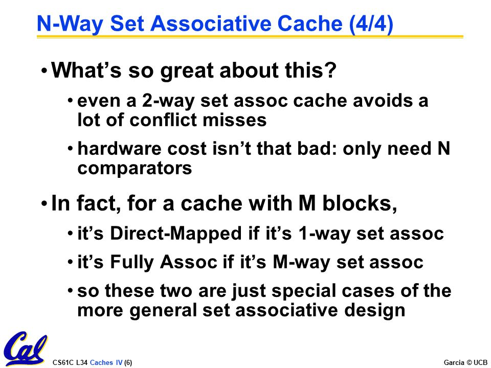N-Way Set Associative Cache (4/4)