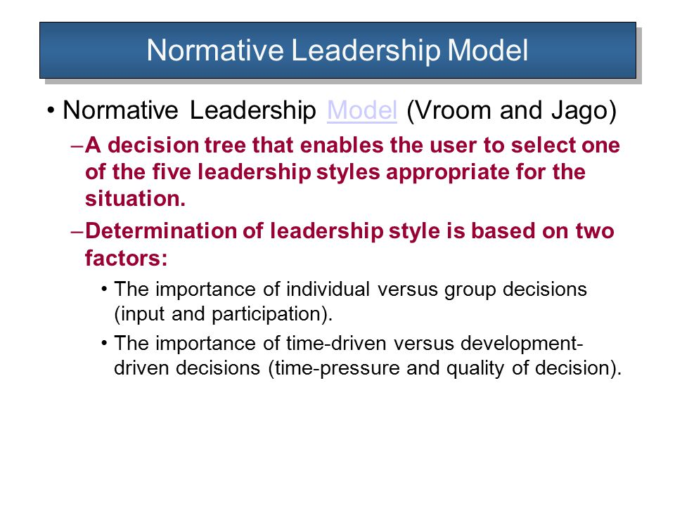 Normative Leadership Model