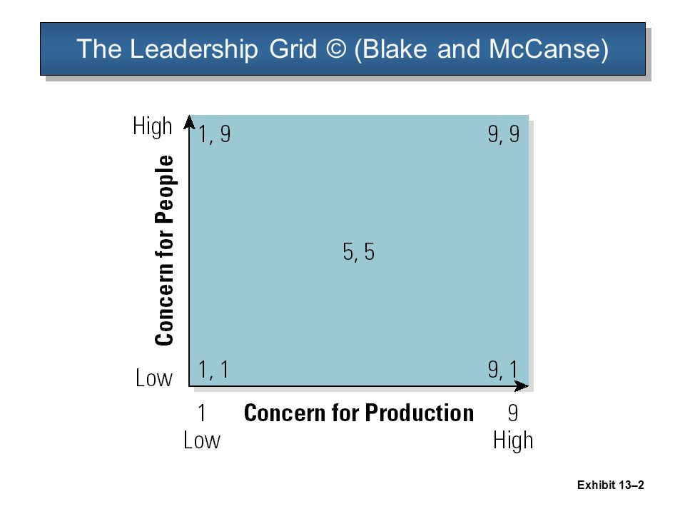 The Leadership Grid © (Blake and McCanse)