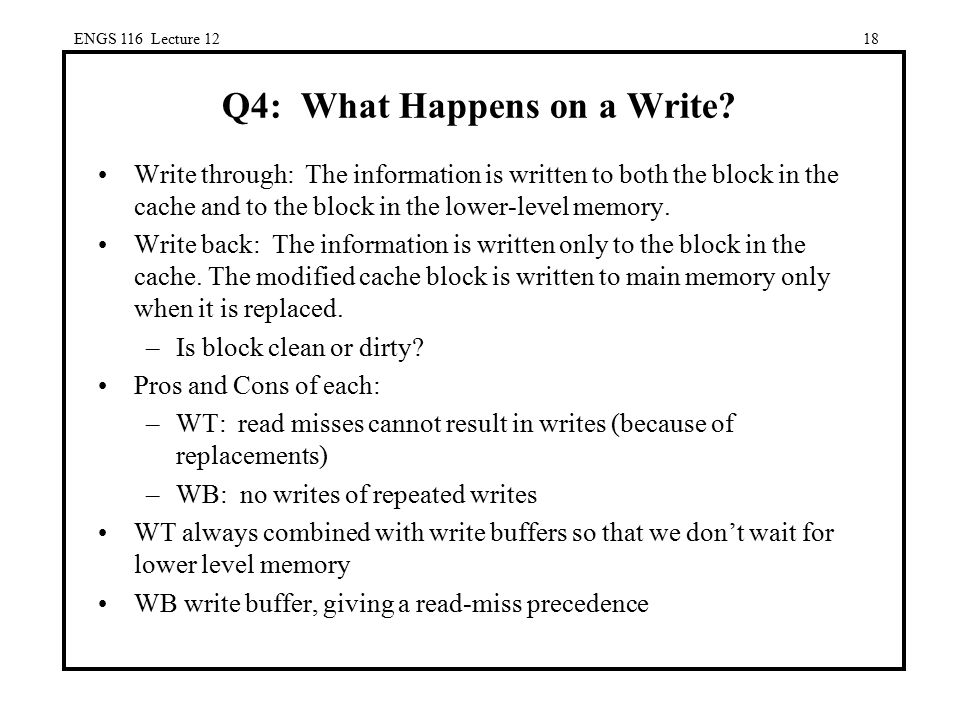 Q4: What Happens on a Write