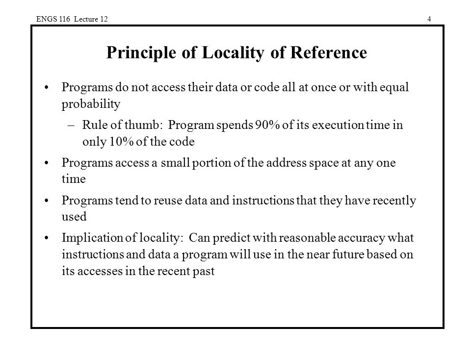 Principle of Locality of Reference