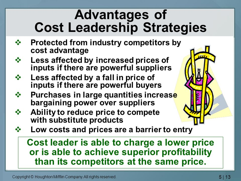 Advantages of Cost Leadership Strategies