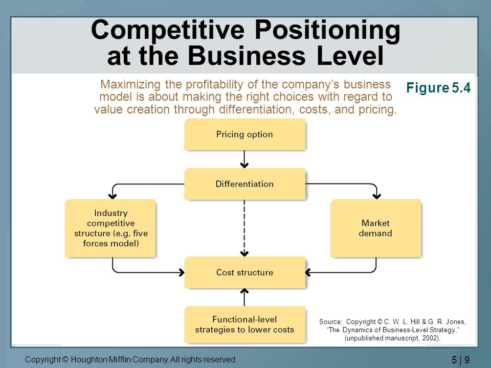 Competitive Positioning at the Business Level