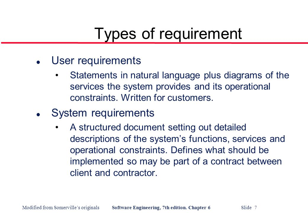software engineering user s requirements What is meant by requirement elicitation and analysis in  and understanding the user's needs and  what are the c requirements in software engineering.