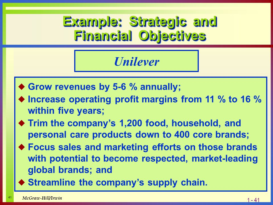 objectives of unilever In the case of unilever, it has consistently hit its own tough and self-imposed  goals while simultaneously turning sustainability into a branding.