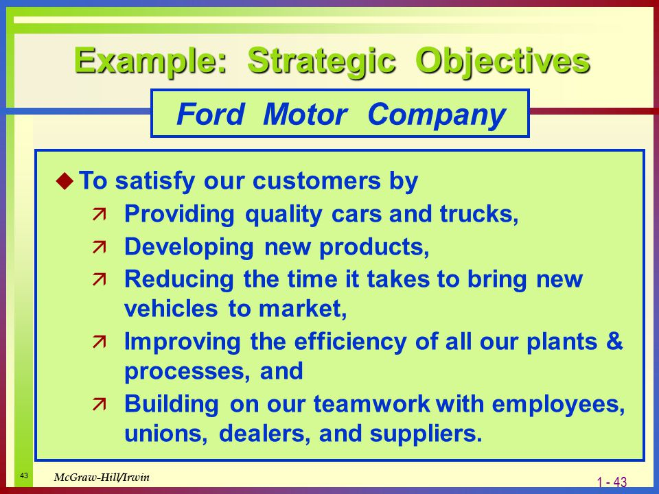 What is strategy and why is it important ppt video Ford motor company financials