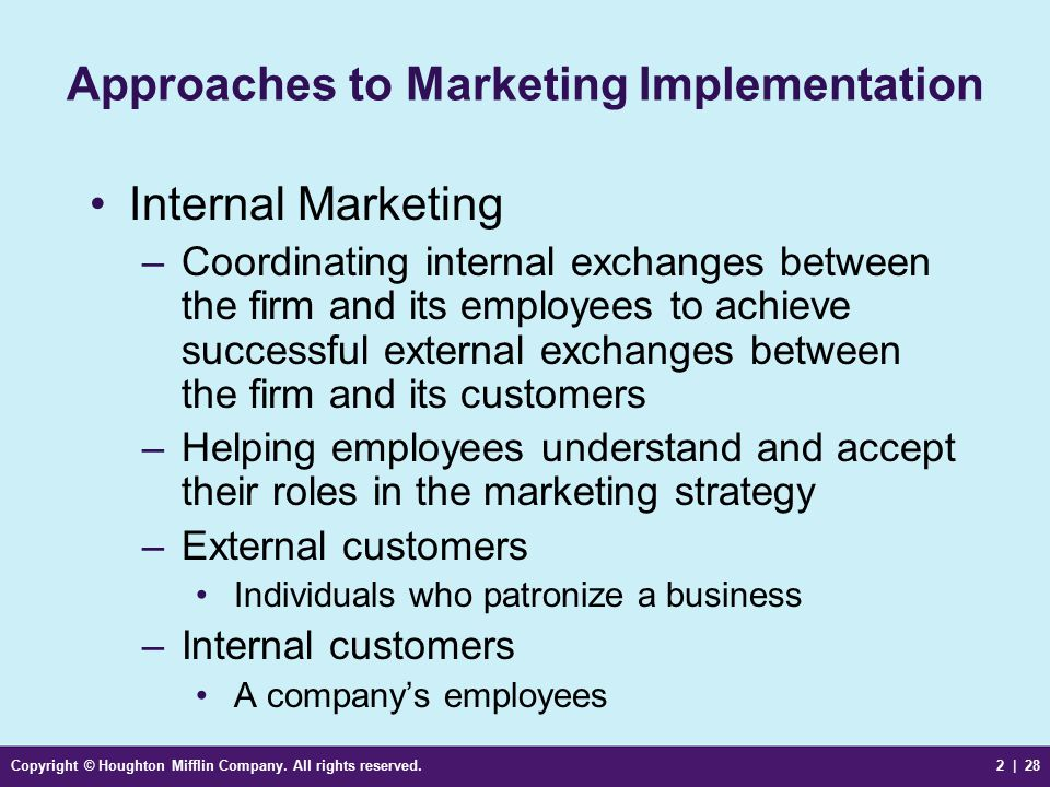 analyse how to achieve successful implementation